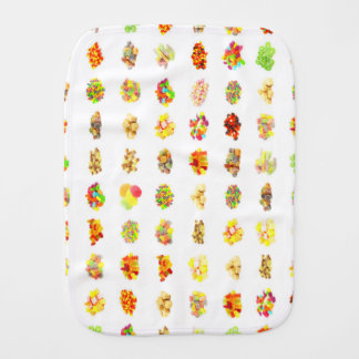 Candy Background Burp Cloth