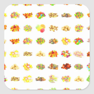 Candy Background Square Sticker