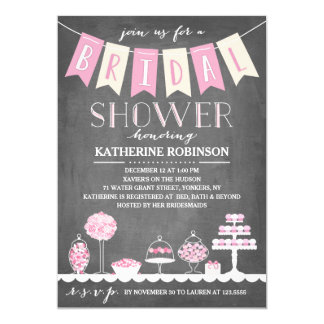 Candy Bar | Bridal Shower Card