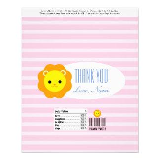 Candy Bar Wrapper Favor - pink lion