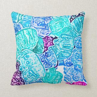 candy bears blue sketch food sweet edible throw pillow