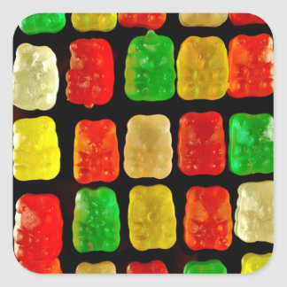 Candy Bears Square Sticker