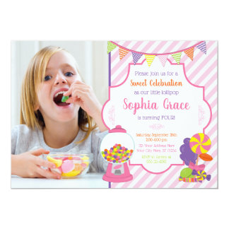 Candy Birthday Invitations | Sweet Shoppe Party