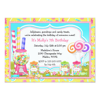 Candy Birthday Party Invitation
