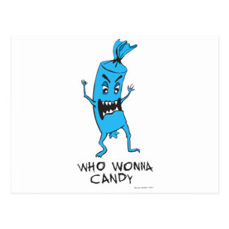 CANDY BLUE POSTCARD