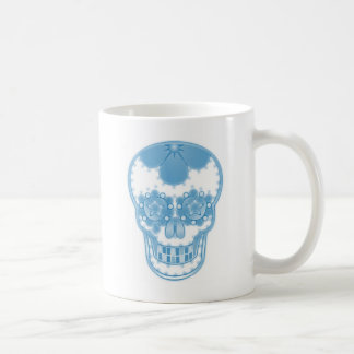 candy blue skull coffee mugs