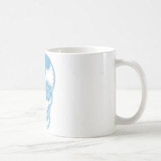 candy blue skull coffee mug