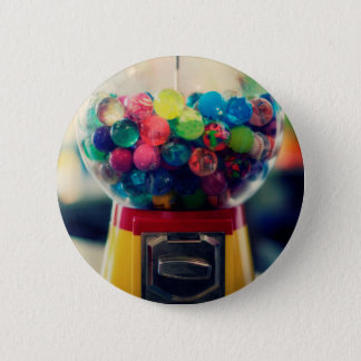 Candy bubblegum toy machine retro 2 inch round button