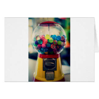 Candy bubblegum toy machine retro card