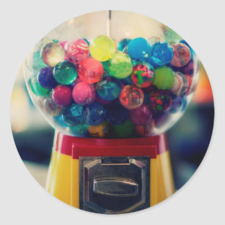 Candy bubblegum toy machine retro classic round sticker