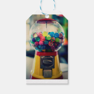 Candy bubblegum toy machine retro gift tags