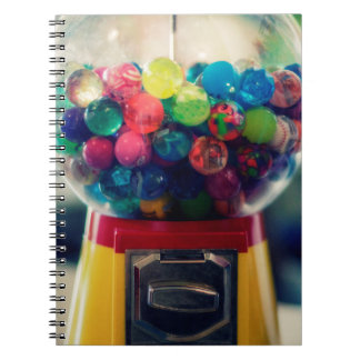 Candy bubblegum toy machine retro notebooks