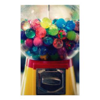 Candy bubblegum toy machine retro stationery