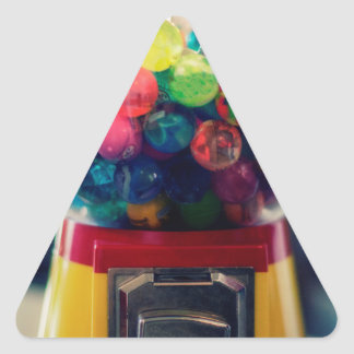 Candy bubblegum toy machine retro triangle sticker