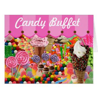 Candy Buffet Stripe Canopy Wedding Big Card
