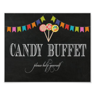Candy Buffet Table Sign - 8x10- Candy Bar Sign Poster