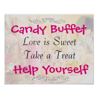 Candy Buffet Wedding or Baby Shower Sign