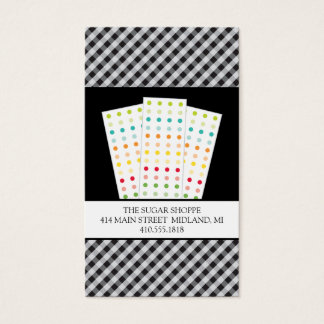 Candy Buttons | Candy Shop Business Cards