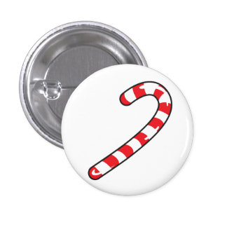 candy cane 1 inch round button