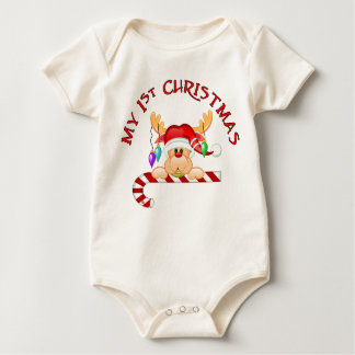 Candy Cane 1st Christmas Baby Bodysuit
