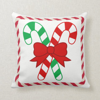 Candy Cane Accent Pillow