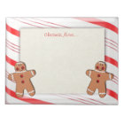 Candy Cane and Gingerbread Man Cookies Notepad