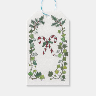 Candy Cane and Holly Gift Tags