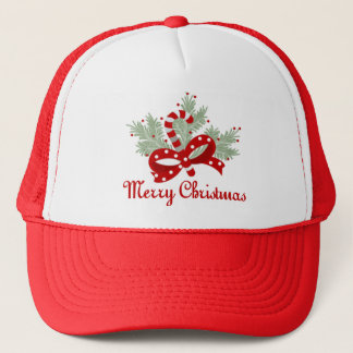 Candy Cane and Mistletoe Trucker Hat