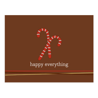 Candy cane and strings Holiday/Christmas Postcard