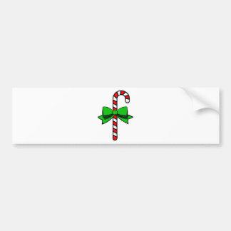 Candy Cane Bumper Sticker