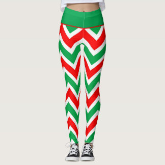 Candy Cane Chevrons Leggings