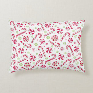 Candy Cane Christmas Decorative Pillow