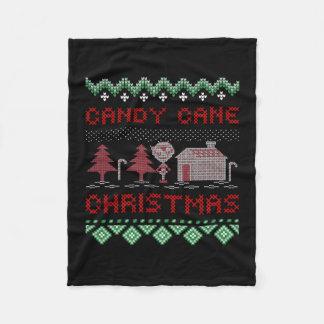Candy Cane Christmas Fleece Blanket