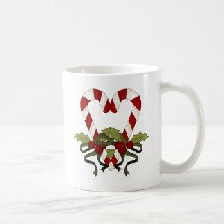 Candy Cane Christmas Heart Coffee Mug