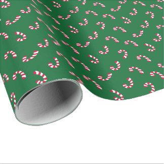 Candy Cane   Christmas Holiday Wrapping Paper
