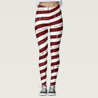 Candy Cane Christmas Leggings