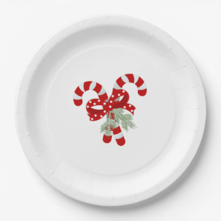 Candy Cane Christmas Paper Plate