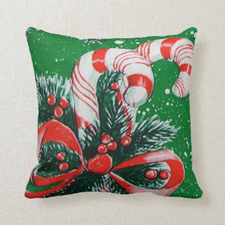 Candy Cane Christmas Pillow