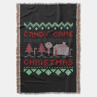 Candy Cane Christmas Throw Blanket