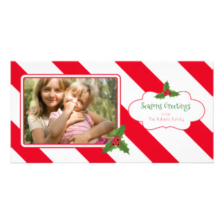 Candy Cane Cute Photo Card