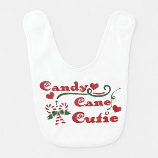 candy cane cutie bib