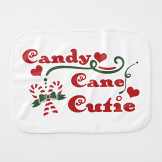 candy cane cutie burp cloth