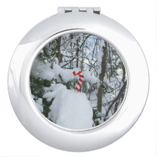 Candy Cane Decoration Outside Compact Mirror