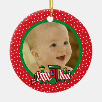 Candy Cane Express Personalized Photo Ornament