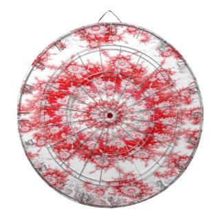 Candy Cane Flower Swirl Fractal Dartboard