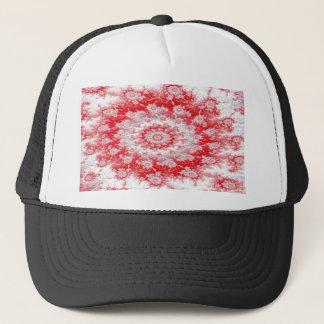 Candy Cane Flower Swirl Fractal Trucker Hat