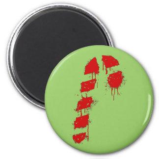 Candy Cane Graffiti 2 Inch Round Magnet