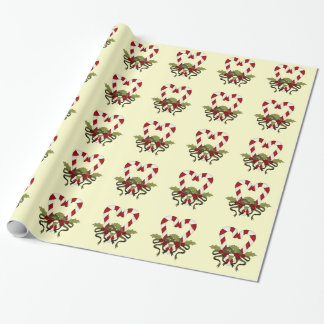Candy Cane Heart Christmas Gift Wrap