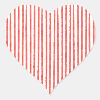 Candy cane heart heart sticker