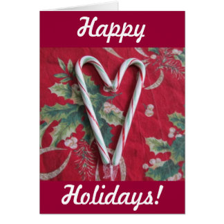 Candy Cane Heart Holiday Card